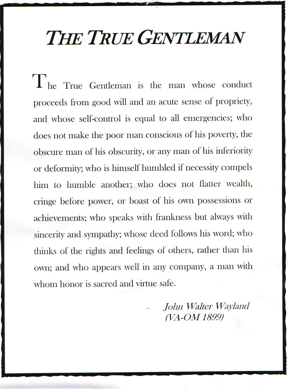 signs of a gentleman